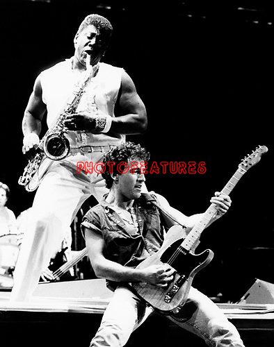 Bruce Springsteen and Clarence Clemons 1985