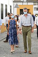 CORDOBA, SPAIN-June 29: King Felipe VI of Spain, Queen Letizia of Spain visit to the courtyards in the old town on June 29, 2020 in Cordoba, Spain. June29, 2020. Credit: Jimmy Olsen/Media Punch ** NO SPAIN**