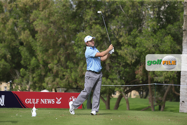 Richard Sterne (RSA) on the 4th during Round 1 of the Omega Dubai Desert Classic, Emirates Golf Club, Dubai,  United Arab Emirates. 24/01/2019<br /> Picture: Golffile | Thos Caffrey<br /> <br /> <br /> All photo usage must carry mandatory copyright credit (&copy; Golffile | Thos Caffrey)