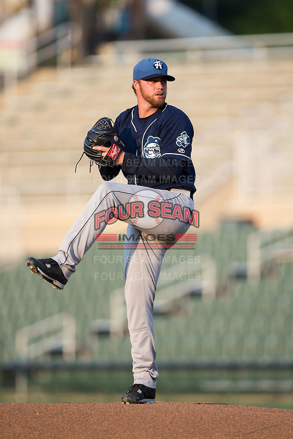 Asheville Tourists starting pitcher Trey Killian (21) in action against the Kannapolis Intimidators at Kannapolis Intimidators Stadium on May 26, 2016 in Kannapolis, North Carolina.  The Tourists defeated the Intimidators 9-6 in 11 innings.  (Brian Westerholt/Four Seam Images)
