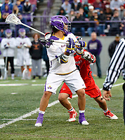Tehoka Nanticoke (#1) looks for a shot as UAlbany Men's Lacrosse defeats Richmond 18-9 on May 12 at Casey Stadium in the NCAA tournament first round.