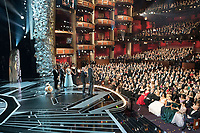 Glen Keane and Kobe Bryant accept the Oscar&reg; for best animated short film for work on &ldquo;Dear Basketball&rdquo; during the live ABC Telecast of The 90th Oscars&reg; at the Dolby&reg; Theatre in Hollywood, CA on Sunday, March 4, 2018.<br /> *Editorial Use Only*<br /> CAP/PLF/AMPAS<br /> Supplied by Capital Pictures