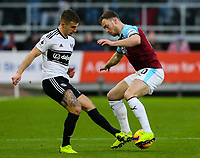Fulham's Joe Bryan battles with Burnley's Ashley Barnes<br /> <br /> Photographer Alex Dodd/CameraSport<br /> <br /> The Premier League - Burnley v Fulham - Saturday 12th January 2019 - Turf Moor - Burnley<br /> <br /> World Copyright © 2019 CameraSport. All rights reserved. 43 Linden Ave. Countesthorpe. Leicester. England. LE8 5PG - Tel: +44 (0) 116 277 4147 - admin@camerasport.com - www.camerasport.com