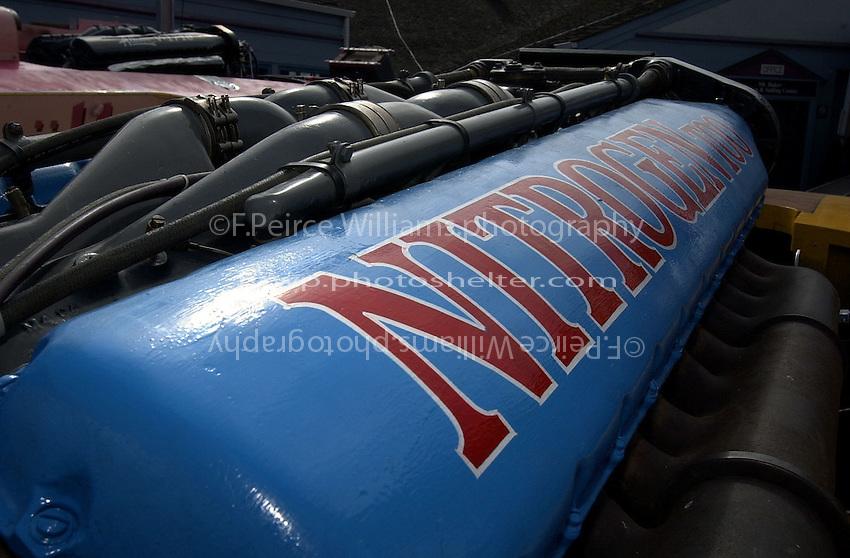 """Detail: V-12 Allison engine in the U-79/2 """"Nitrogen Too""""."""