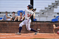 Danville Braves designated hitter Ramon Osuna (19) swings at a pitch during a game against the Johnson City Cardinals at Howard Johnson Field at Cardinal Park on July 26, 2016 in Johnson City, Tennessee. The Braves defeated the Cardinals 10-8. (Tony Farlow/Four Seam Images)