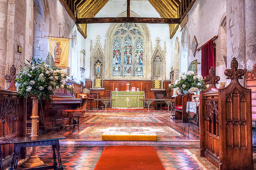 HDR Photo of St. Mary's Church, Harlington, Bedfordshire, UK.