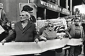 WECH members outside Westmonster City Hall after presenting their bid to takeover the Walterton and Elgin Estates from the council, 1989.