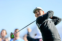 Xander Schauffele (USA) on the 3rd tee during the 2nd round of the Waste Management Phoenix Open, TPC Scottsdale, Scottsdale, Arisona, USA. 01/02/2019.<br /> Picture Fran Caffrey / Golffile.ie<br /> <br /> All photo usage must carry mandatory copyright credit (© Golffile | Fran Caffrey)