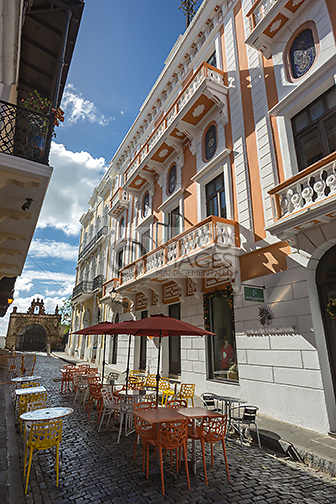 OUTDOOR CAFE CALLE DEL CRISTO OLD TOWN SAN JUAN PUERTO RICO