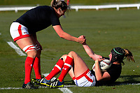 Kelly and Laura Russell during the 2017 International Women's Rugby Series rugby match between Canada and Australia Wallaroos at Smallbone Park in Rotorua, New Zealand on Saturday, 17 June 2017. Photo: Dave Lintott / lintottphoto.co.nz