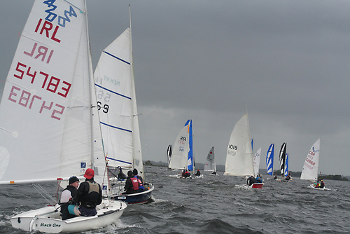 The dinghies underway in the 2020 edition of the Cong Galway race