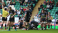 Clermont Auvergne's Peceli Yato scores his side's third try<br /> <br /> Photographer Stephen White/CameraSport<br /> <br /> European Rugby Challenge Cup - Northampton Saints v Clermont Auvergne - Saturday 13th October 2018 - Franklin's Gardens - Northampton<br /> <br /> World Copyright © 2018 CameraSport. All rights reserved. 43 Linden Ave. Countesthorpe. Leicester. England. LE8 5PG - Tel: +44 (0) 116 277 4147 - admin@camerasport.com - www.camerasport.com