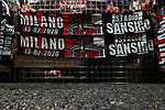 Commemorative scarves for the match on sale at a merchandise stand outside the ground before the Coppa Italia match at Giuseppe Meazza, Milan. Picture date: 13th February 2020. Picture credit should read: Jonathan Moscrop/Sportimage