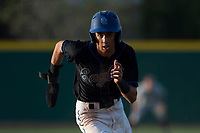 Sandra Day O'Connor Eagles shortstop Jayce Easley (3) steals third base during a game against Mountain Ridge High School at Brazell Field at GCU on April 19, 2018 in Glendale, Arizona. Mountain Ridge defeated Sandra Day O'Connor 2-1. (Zachary Lucy/Four Seam Images)