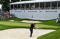 Adam Scott (AUS) hits up tight from the trap on 17 during Rd4 of the 2019 BMW Championship, Medinah Golf Club, Chicago, Illinois, USA. 8/18/2019.<br /> Picture Ken Murray / Golffile.ie<br /> <br /> All photo usage must carry mandatory copyright credit (© Golffile | Ken Murray)