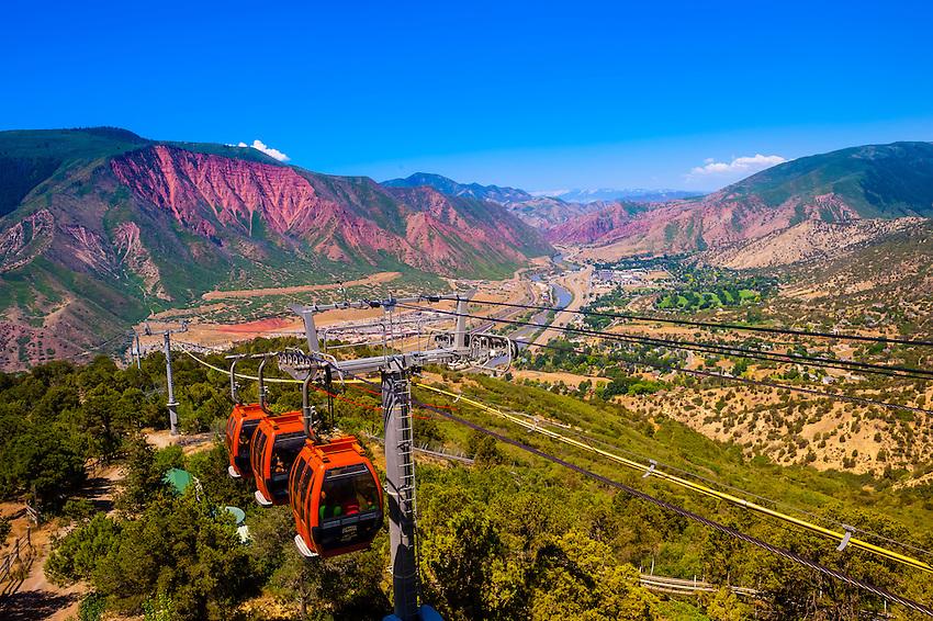 Aerial tram, Glenwood Caverns Adventure Park, Glenwood Springs, Colorado USA