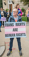 Washington DC, October 8,2019 USA-The US Supreme Court heard arguments for and against Lesbian,Gay,Bi-Sexual and Transgender (LGBT) discrimination in Washington DC. Protestors on both sides gathered at the steps of the Supreme Court, after the area was shut down due to an earlier bomb scare.  <br /> CAP/MPI/PYL<br /> ©PYL/MPI/Capital Pictures
