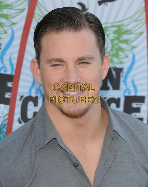 CHANNING TATUM.Fox Teen Choice 2010 Awards held at he Universal Ampitheatre in Universal City, California, USA..August 8th, 2010    .headshot portrait grey gray stubble facial hair goatee.CAP/RKE/DVS.©DVS/RockinExposures/Capital Pictures.
