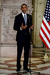 King Felipe VI of Spain during the official recepcion of the President of United States of America, Barack Obama in Madrid. July 10, 2016. (ALTERPHOTOS/BorjaB.Hojas)