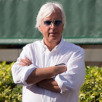 HALLANDALE BEACH, FL - JANUARY 27: Bob Baffert  at Gulfstream Park. (Photo by Arron Haggart/Eclipse Sportswire/Getty Images