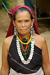 Portrait of Karen Long Ear Woman Long Ear Hill Tribe, Thailand Mae Hong Son