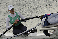 Munich, GERMANY, 2006, FISA, Rowing, World Cup, IRL, W1X Caroline Ryan,  held on the Olympic Regatta Course, Munich, Thurs. 25.05.2006. © Peter Spurrier/Intersport-images.com,  / Mobile +44 [0] 7973 819 551 / email images@intersport-images.com.[Mandatory Credit, Peter Spurier/ Intersport Images] Rowing Course, Olympic Regatta Rowing Course, Munich, GERMANY