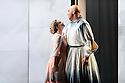 "London, UK. 12.10.2016. English Touring Opera presents ""Ulysses' Homecoming"" at the Hackney Empire, prior to its UK tour. Picture shows: Martha Jones (Melanto), Adam Music (Eurymachus). Photograph © Jane Hobson."