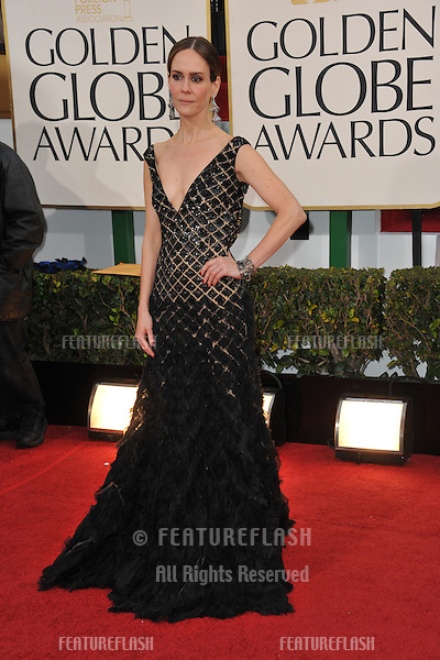 Sarah Paulson at the 70th Golden Globe Awards at the Beverly Hilton Hotel..January 13, 2013  Beverly Hills, CA.Picture: Paul Smith / Featureflash