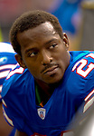 24 September 2006: Buffalo Bills running back Willis McGahee sits on the bench during a game against the New York Jets at Ralph Wilson Stadium in Orchard Park, NY. The Jets defeated the Bills 28-20. Mandatory Photo Credit: Ed Wolfstein Photo
