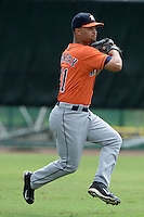 Houston Astros outfielder James Ramsey (41) during practice before an Instructional League game against the Atlanta Braves on September 22, 2014 at the ESPN Wide World of Sports Complex in Kissimmee, Florida.  (Mike Janes/Four Seam Images)