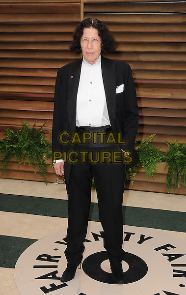 WEST HOLLYWOOD, CA - MARCH 2: Fran Lebowitz arrive at the 2014 Vanity Fair Oscar Party in West Hollywood, California on March 2, 2014. <br /> CAP/MPI/MPI213<br /> &copy;MPI213 / MediaPunch/Capital Pictures
