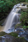 The beautiful Hunts Creek Waterfall in suburban Sydney, NSW, Australia.