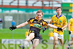Greg Horan Austin Stacks in action against David Foran Feale Rangers in the Semi Finals of the Senior County Football Championship at Austin Stack Park on Sunday.