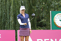 Pernilla Lindberg (SWE) prepares to tee off the 9th tee during Thursday's Round 1 of The Evian Championship 2018, held at the Evian Resort Golf Club, Evian-les-Bains, France. 13th September 2018.<br /> Picture: Eoin Clarke | Golffile<br /> <br /> <br /> All photos usage must carry mandatory copyright credit (© Golffile | Eoin Clarke)