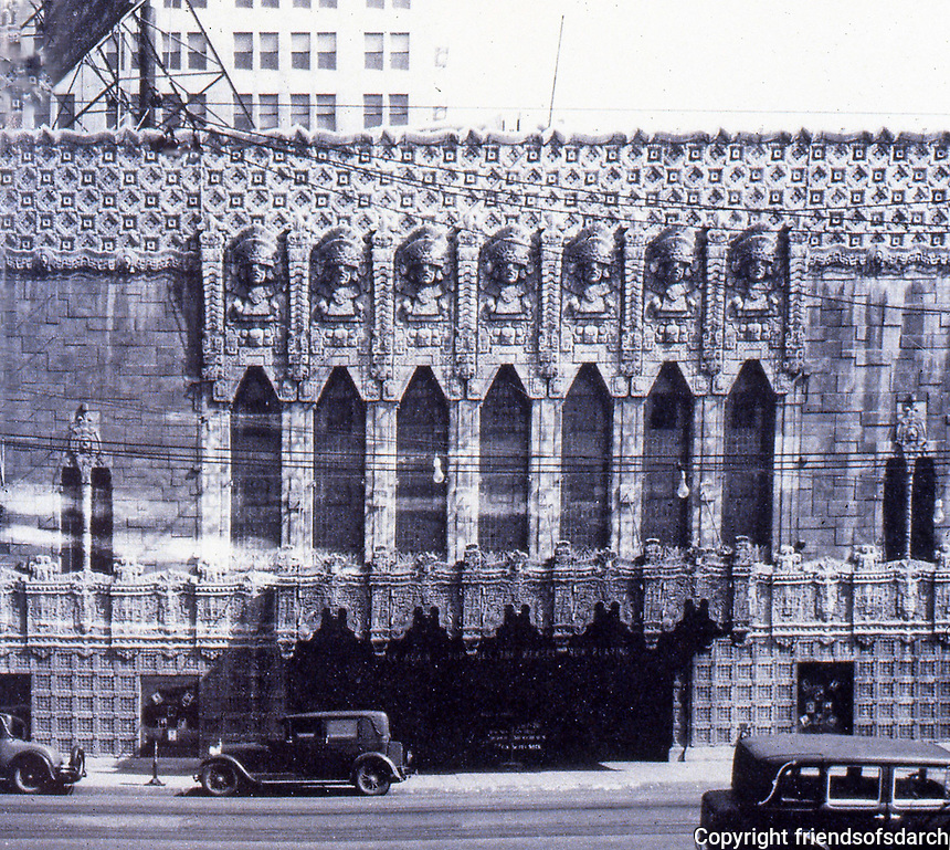 Los Angeles:  Historic photo of Mayan Theatre, 1040 S. Hill Street, 1926-27. Morgan, Walls & Clements.