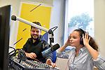 Collégiens et collégiennes à Radio SUN (Cholet)