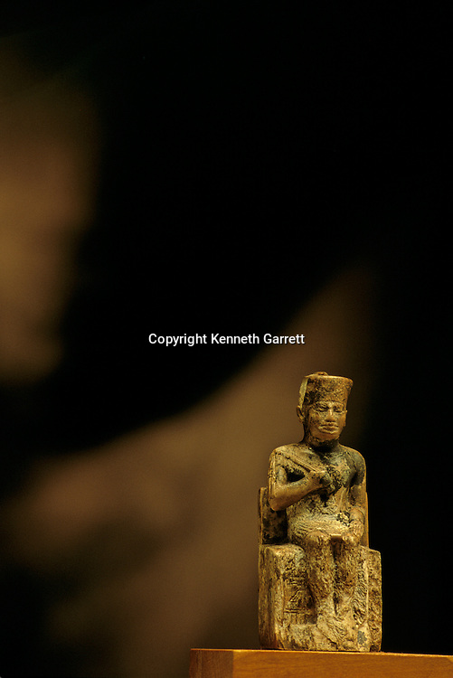 Egypt's Old Kingdom, Pharaoh Khufu, ivory statue, Egyptian Museum, Cairo