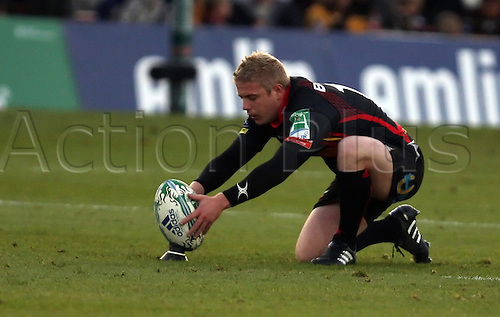 16.10.2010 Heineken Cup Rugby Newport Gwent Dragons v Toulouse...Matthew Jones (Newport Gwent Dragons) kicked 4 penalties and one conversion in their defeat against Toulouse