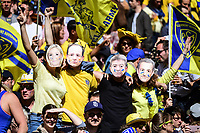Clermont fans on French presidential Election Day during the European Champions Cup semi final match between AS Clermont and Leinster on April 23, 2017 in Clermont-Ferrand, France. (Photo by Dave Winter/Icon Sport)