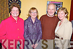 Enjoying the Beaufort Rambling House held in the Community Centre on Saturday night were Mary O'Shea and Dorothy Lynch, Killorglin with Con and Breda Lynch, Killarney.