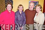 Enjoying the Beaufort Rambling House held in the Community Centre on Saturday night were Mary O'Shea and Dorothy Lynch, Killorglin with Con and Breda Lynch, Killarney.