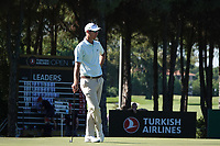 Nicolas Colsaerts (BEL) in action during the first round of the Turkish Airlines Open, Montgomerie Maxx Royal Golf Club, Belek, Turkey. 07/11/2019<br /> Picture: Golffile | Phil INGLIS<br /> <br /> <br /> All photo usage must carry mandatory copyright credit (© Golffile | Phil INGLIS)