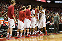 November 8, 2013: Shavon Shields (31) of the Nebraska Cornhuskers greeted by his teammates when he takes the bench towards the end of the game against the Florida Gulf Coast Eagles at the Pinnacle Bank Areana, Lincoln, NE. Nebraska defeated Florida Gulf Coast 79 to 55.