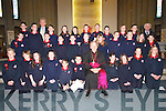 Confirmed on Friday afternoon by Bishop Bill Murphy in St Brendan's Church, Tralee, were the pupils from 6th Class, Scoil Lios Teilic. Front row l-r: Greg Horan, Conor Burke, Marie OCarroll, Ciara Lynch, Micheala OConnor, Seamus OShea, Caroline OCarroll, Shauna Dowling, Sarah Brosnan and Diana Fealy. Middle row l-r: David Reilly, Graham Counihan, Alex OMahoney, Alan Boyle, Tommie Begley, Emma Carmody, Elaine Lawlor, Robert Prendeville, Kieran Dinan, Erin Flanagan and Joanne OConnell. Back row l-r: Kieran Reilly, Richard Hayman, Lisa Griffin, Katie OSullivan, Jason Conway, Nathan Daly, Niamh OSullivan, Jennifer Stimpfig and Dan McCarthy, pictured with Bishop Bill Murphy, Micheal O Cinneide (Principal) and Muiris O Suilleabhain (Class Teacher)..