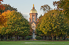 November 1, 2016; Golden Dome. (Photo by Barbara Johnston/University of Notre Dame)