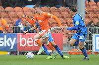 Blackpool's Chris Long is fouled by Gillingham's Bradley Garmston<br /> <br /> Photographer Kevin Barnes/CameraSport<br /> <br /> The EFL Sky Bet League One - Blackpool v Gillingham - Saturday 4th May 2019 - Bloomfield Road - Blackpool<br /> <br /> World Copyright © 2019 CameraSport. All rights reserved. 43 Linden Ave. Countesthorpe. Leicester. England. LE8 5PG - Tel: +44 (0) 116 277 4147 - admin@camerasport.com - www.camerasport.com