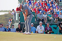 Brooks Koepka (USA) putts on the 17th hole during the 118th U.S. Open Championship at Shinnecock Hills Golf Club in Southampton, NY, USA. 17th June 2018.<br /> Picture: Golffile | Brian Spurlock<br /> <br /> <br /> All photo usage must carry mandatory copyright credit (&copy; Golffile | Brian Spurlock)