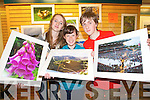 Teenagers from Castleisland showcasing their photography as part of a parish project for young people. .L-R Katie Flynn, Mairead Fitzgerald and Paddy Flynn.