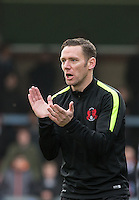 Player Manager Kevin Nolan during his first match in charge during the Sky Bet League 2 match between Wycombe Wanderers and Leyton Orient at Adams Park, High Wycombe, England on 23 January 2016. Photo by Andy Rowland / PRiME Media Images.