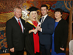 19/1/2015   (with compliments)  Attending the University of limerick conferrings on Monday afternoon was Louise Dineen, Dooradoyle conferred with a MSc in Work and Organisational Behaviour pictured with her husband Barry O'Farrell and parents Donal and Margaret.  Picture Liam Burke/Press 22
